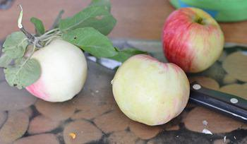 Целые яблоки перед заморозкой