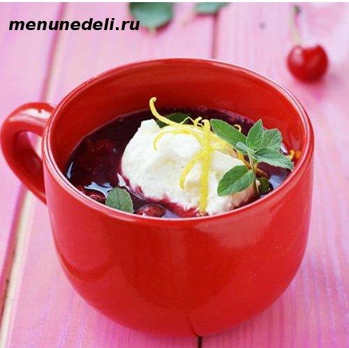 Десерт из вишни вишневый суп с творожными клецками