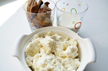 Ингредиенты для мороженого из творога