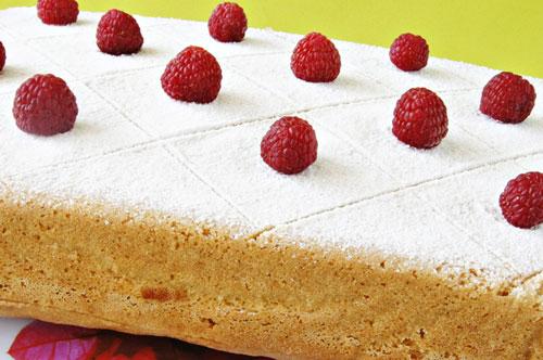Пирог с малиной на минералке