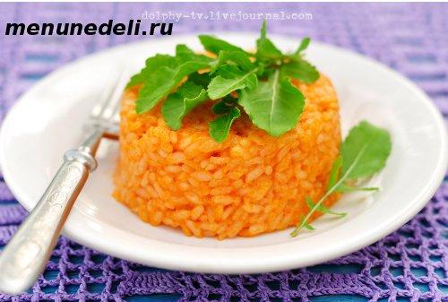 Рисовая каша с томатом и сыром для детей и взрослых