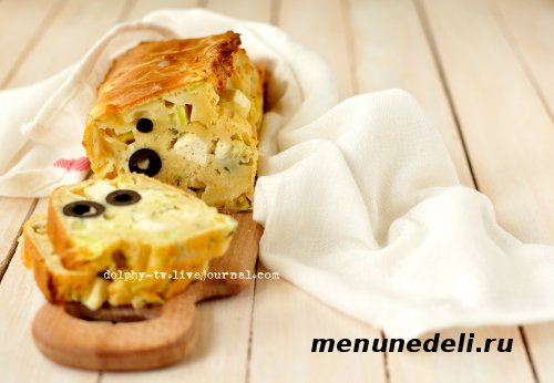 Кекс из кабачков, маслин и брынзы