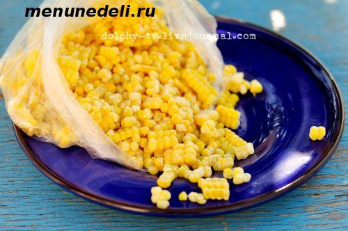 Замороженная кукуруза для приготовления супов салатов пирожков