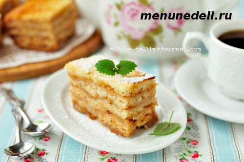 насыпной яблочный пирог без масла приготовленный в духовке