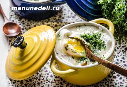 Грибной суп из замороженных грибов по-чешски