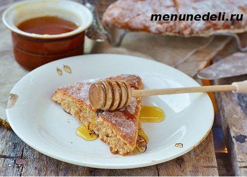Сконсы яблочные с медовым маслом