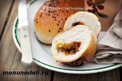 Рецепт булочек с начинкой из тыквы и брынзы
