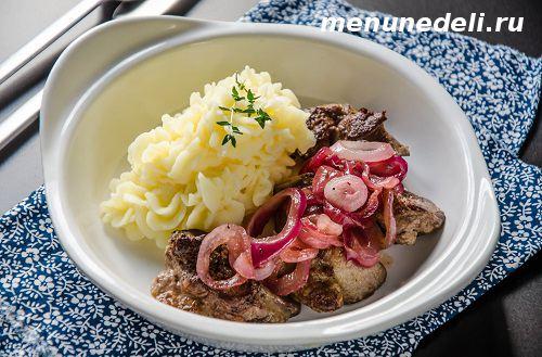 Рецепт приготовления куриной печени с луком