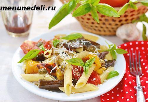 Паста с овощами по-деревенски