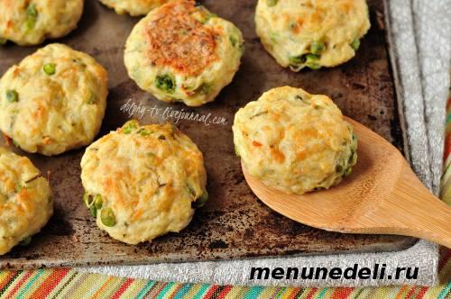 Рецепт картофельных  котлет с индейкой и сыром