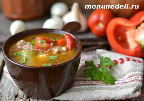 Суп рататуй в мультиварке