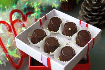 Шоколадные конфеты с маскарпоне в коробке