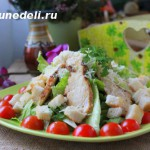 kak prigotovit' salat cezar' s kuricej i suharikami