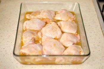 Курица залитая апельсиновым маринадом в духовке