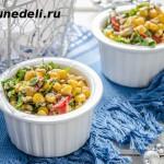 салат из кукурузы с грецкими орехами