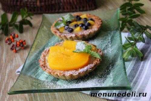 Рецепт пирожного корзиночка с фруктами