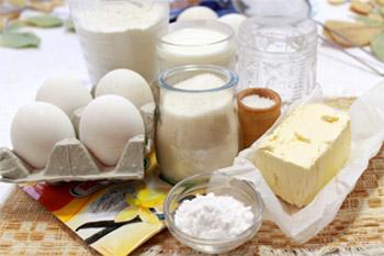 Мука сахар сливочное масло яйца молоко ваниль какао соль