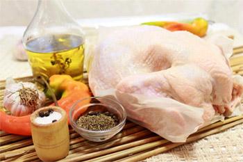 Курица растительное масло сушеный базилик перец чили специи