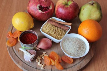 Ингредиенты для вегетарианского плова с булгуром
