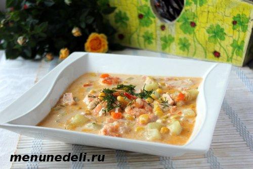 Рецепт супа с креветками и овощами
