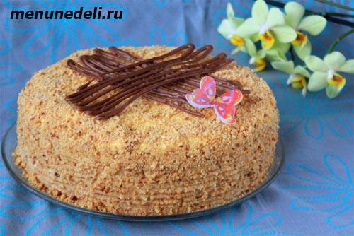 Как приготовить бисквитный медовый торт