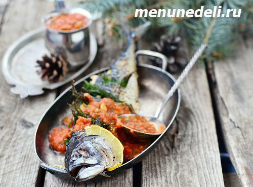 Как приготовить скумбрию с томатным соусом