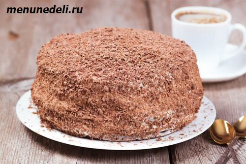 Рецепт сметанного торта из теста двух цветов со сметанным кремом