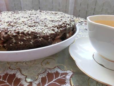 маковый торт с яблочной прослойкой-2