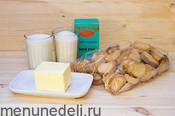 Ванильные сухари какао сахар молоко сливочное масло