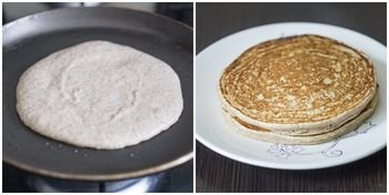 Сковороду нагреть смазать маслом выливать тесто и жарить