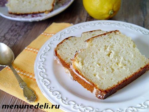 Рецепт творожного кекса с лимоном