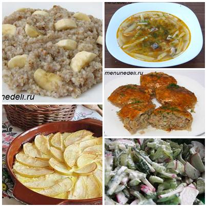 блюда при правильном питании с калорийностью