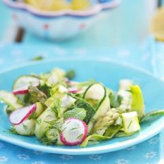 Салат из спаржи, кабачков и редиса -  рецепт с пошаговыми фото