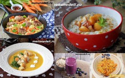 готовое меню правильного питания для похудения