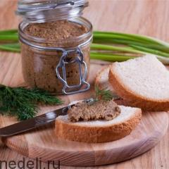 Постный паштет на бутерброды с грибами
