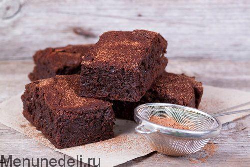 Брауни без муки рецепт с фото