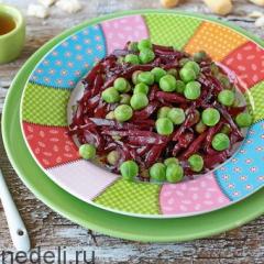 Салат из свеклы с зеленым горошком как в детском саду