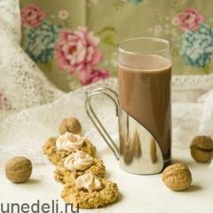 Печенье с джемом и зефирной шапочкой в ореховой панировке