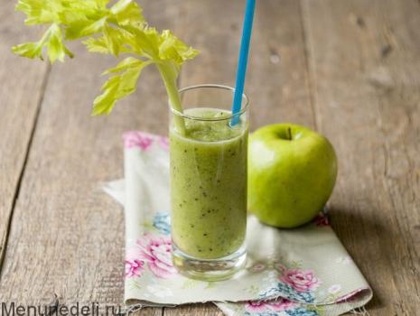 Зеленый смузи, пошаговый рецепт с фото