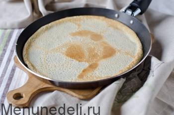Тонкие блинчики на воде - рецепт пошаговый с фото