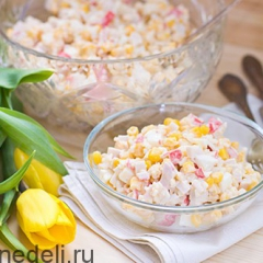 Салат крабовый - классический рецепт