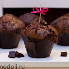 Шоколадные маффины на кислом молоке