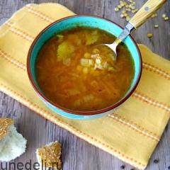 Суп в пост из гороха с томатной пастой