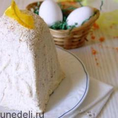 Пасха с миндалем и апельсиновой карамелью