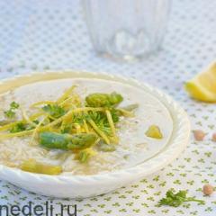 Как приготовить суп из спаржи и нута - рецепт с пошаговыми фото