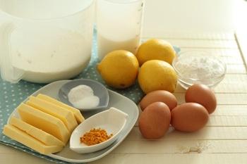 Продукты для лимонного кекса