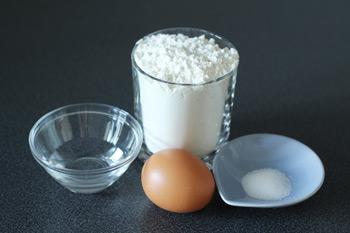 Ингредиенты для приготовления правильного пресного теста