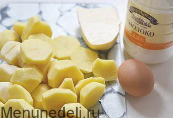 Ингредиенты для приготовления картофельного пюре