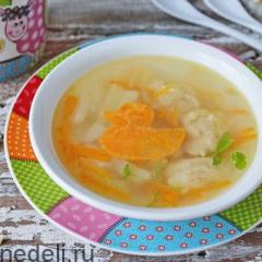 Картофельный суп с клёцками как в детском саду