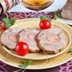 Свинина, фаршированная колбасой